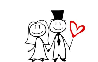 Hochzeitspaar Zeichnung